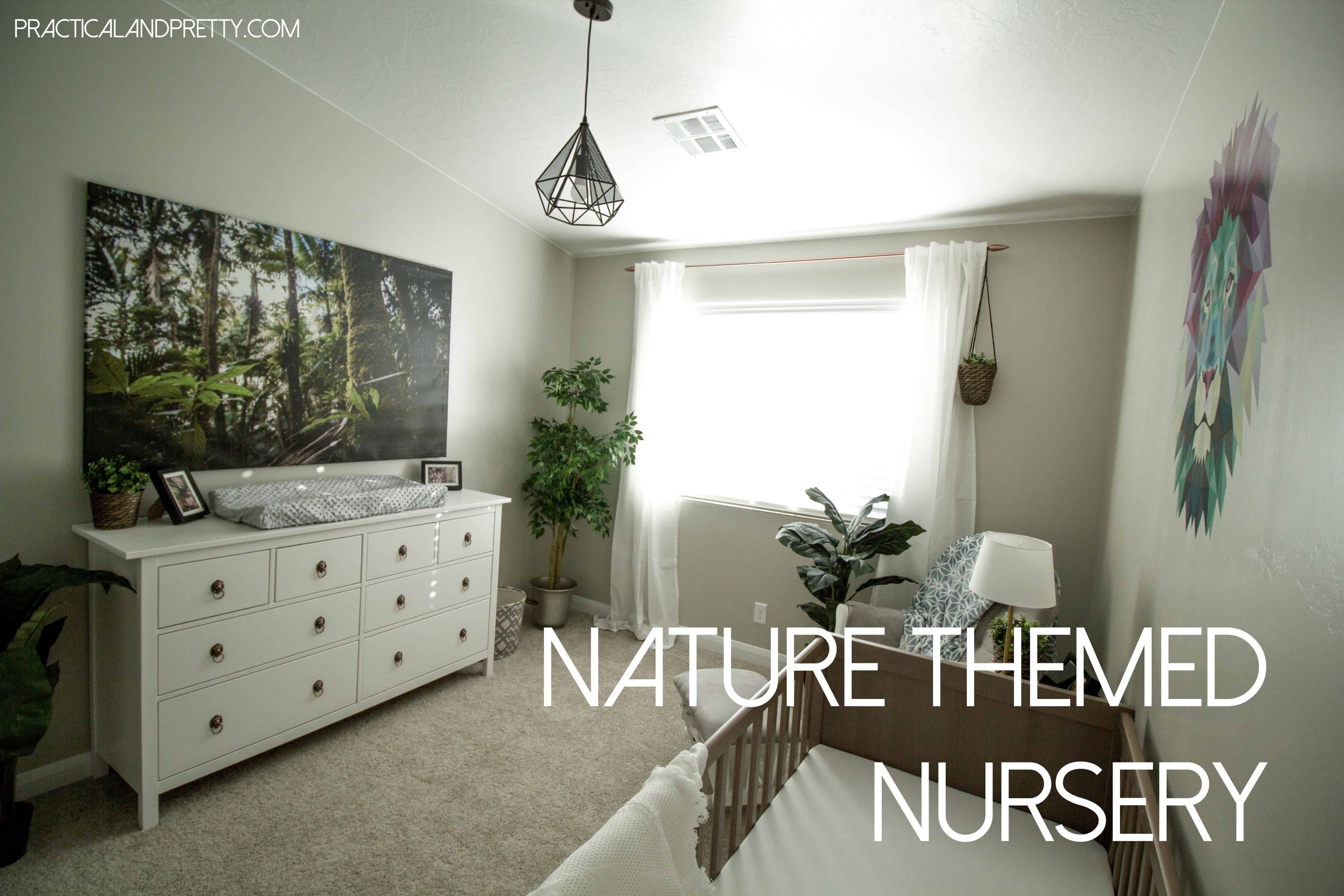 Nature Themed Nursery Reveal Practical And Pretty