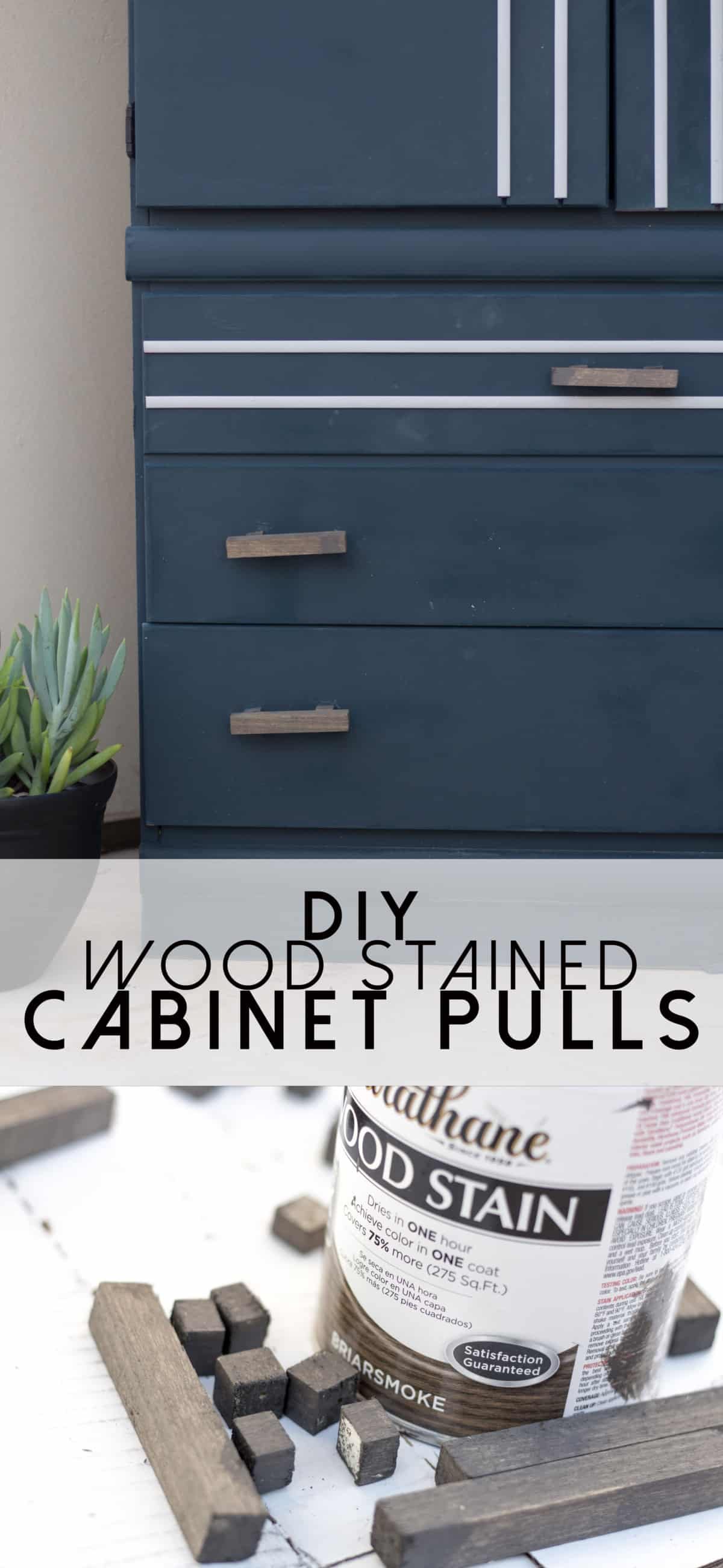 Diy Wood Stained Cabinet Pulls Practical And Pretty