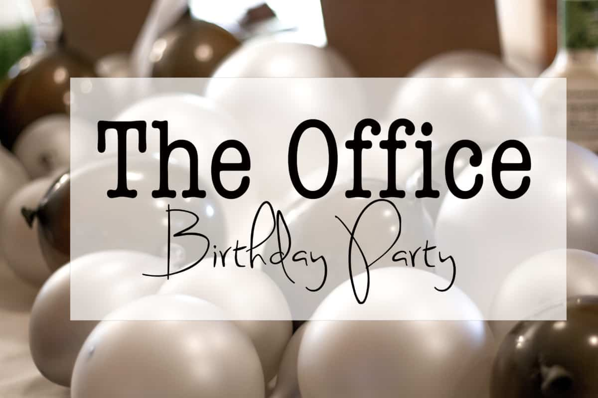 the office themed birthday party