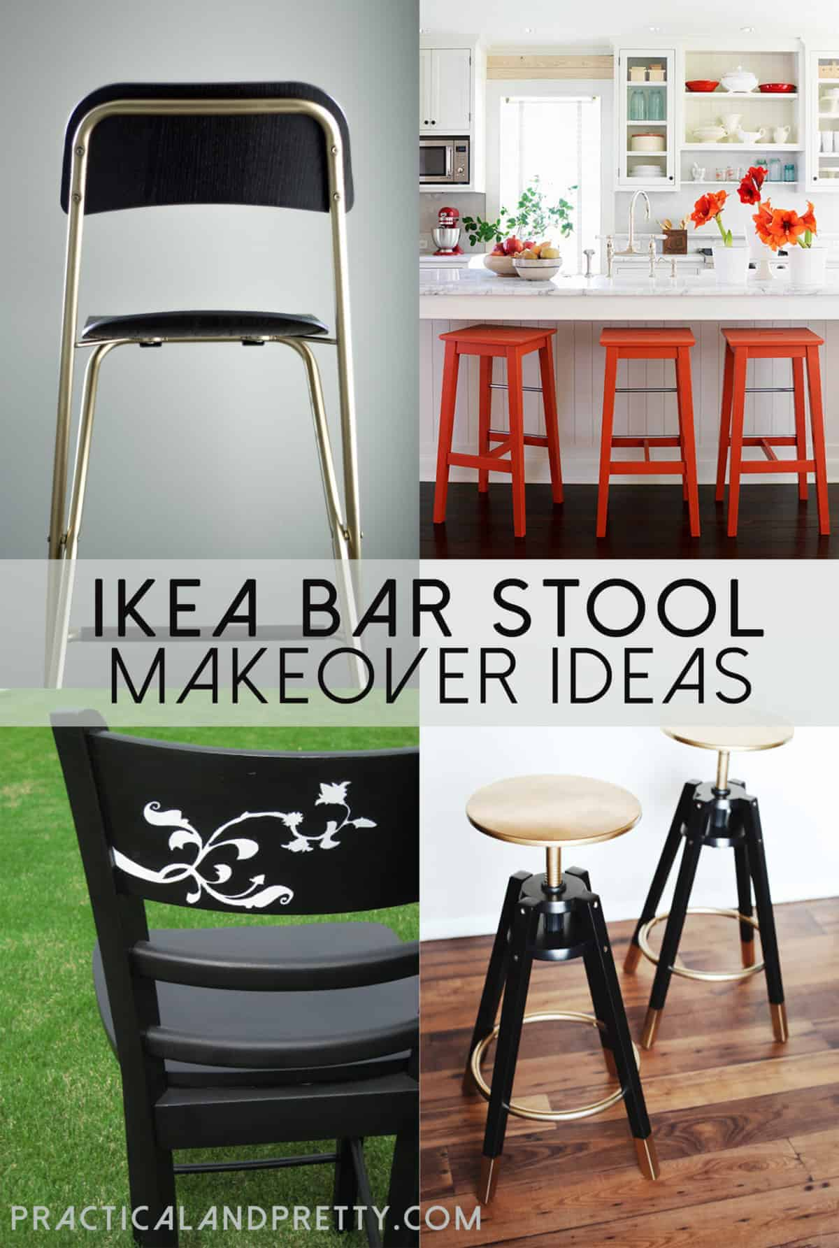 Easy Ikea Bar Stool Updates Practical And Pretty