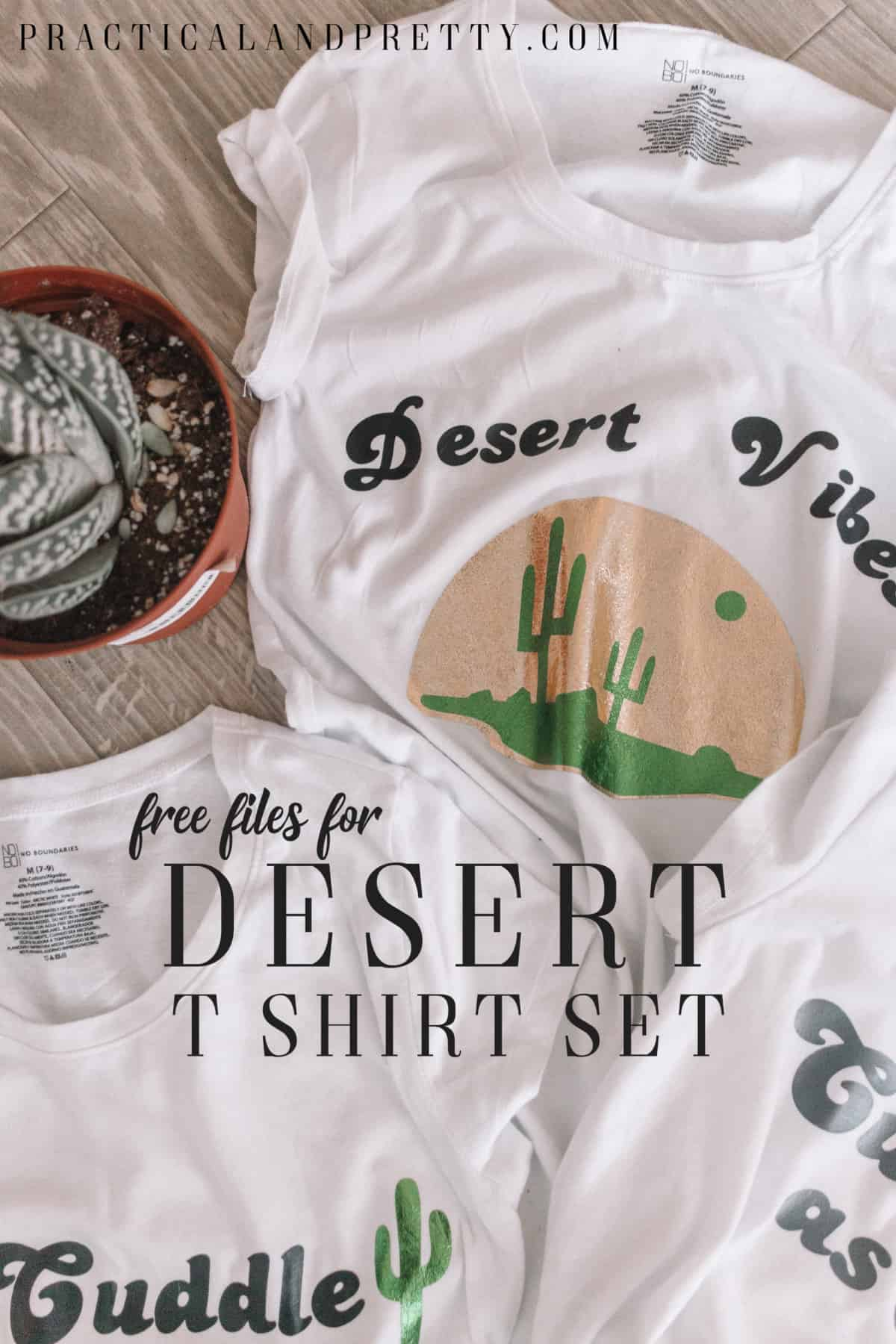 2fc8bcc8 Make one, two or all three of these custom cactus themed t shirts using your